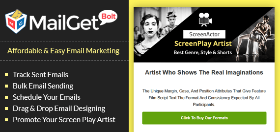 Email Marketing For Screenplay Slider