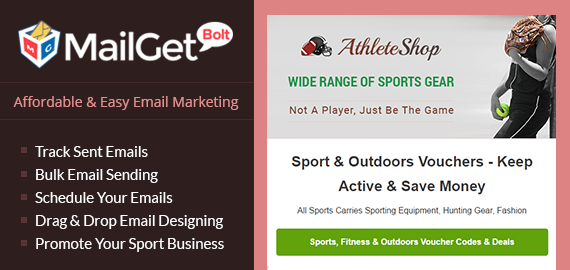 Email Marketing For Sports Store Slider
