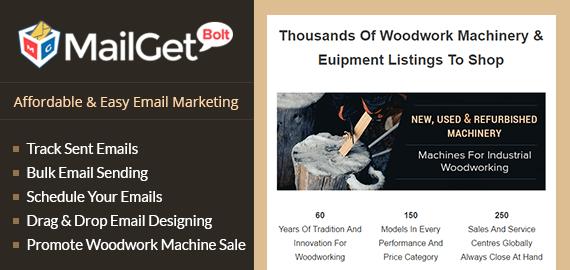 Email Marketing For Woodwork Machinery & Euipment Sale Slider