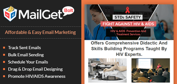 Email Marketing Service For AIDS & HIV Education Center Slider