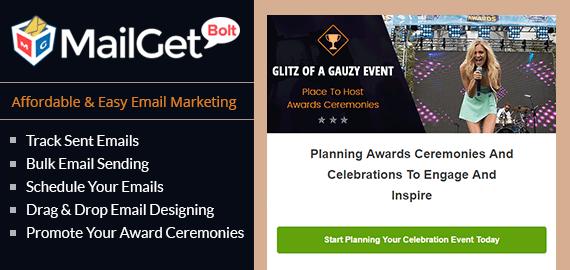 Email Marketing Service For Award Ceremonies Slider