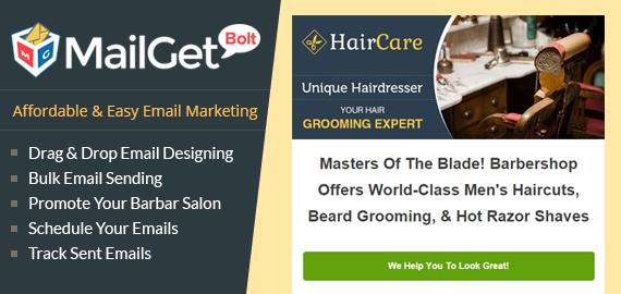 Email Marketing Service For Barbing Salon Slider