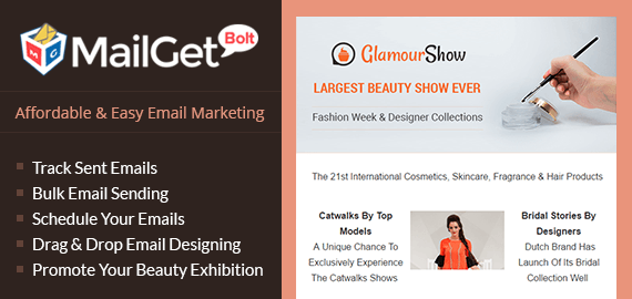 Email Marketing Service For Beauty Exhibition
