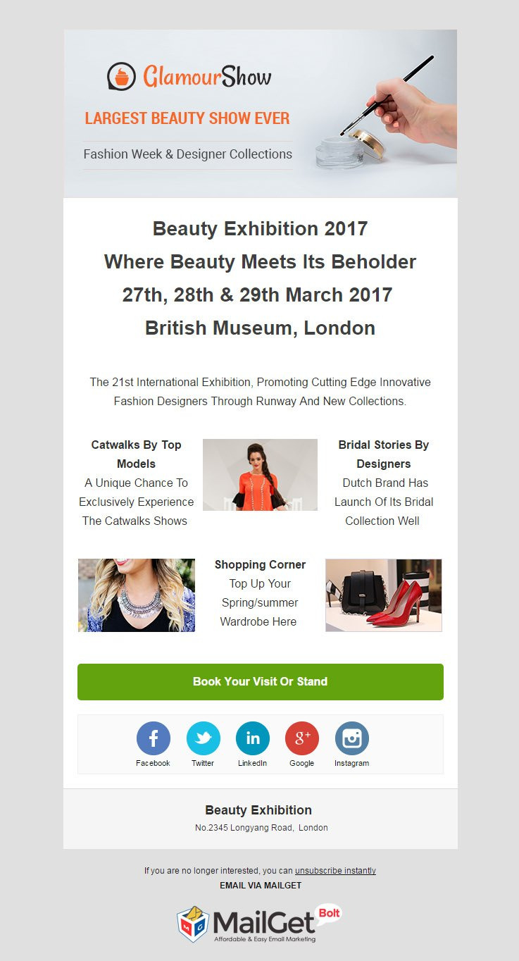 Email Marketing Service For Beauty Exhibitions