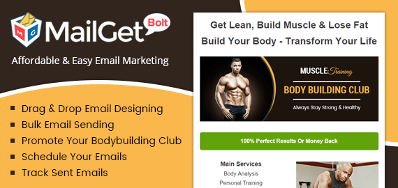 Email Marketing Service For Body Builders Slider