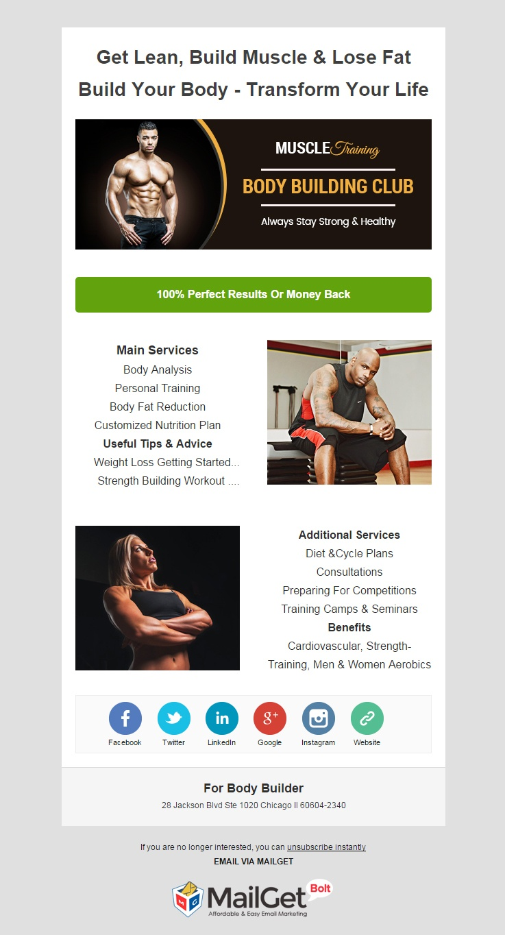 Email Marketing Service For Bodybuilders & Gym Trainers