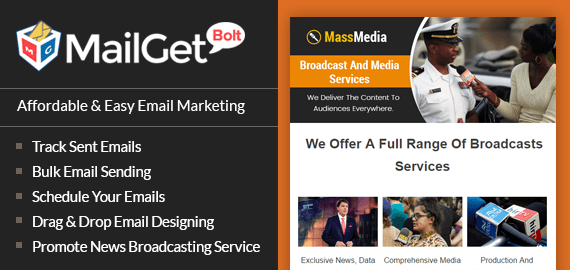 Broadcast Media Agencies Email Marketing Service For News Channels