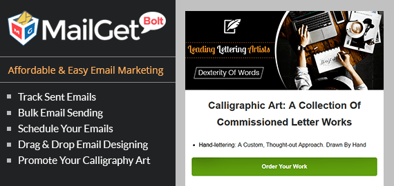 Email Marketing Service For Calligraphy Artists
