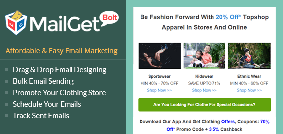 Email Marketing Service For Clothing & Apparel Stores Slider