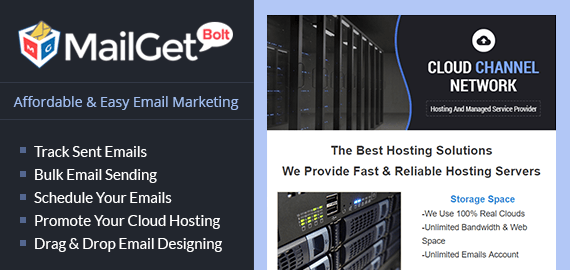 Email Marketing Service For Cloud Hosting Company