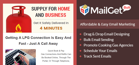 Email Marketing Service For Cooking & Natural Gas Agencies