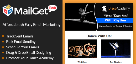 Dance Academy Email Marketing Service For Dancing Institutions