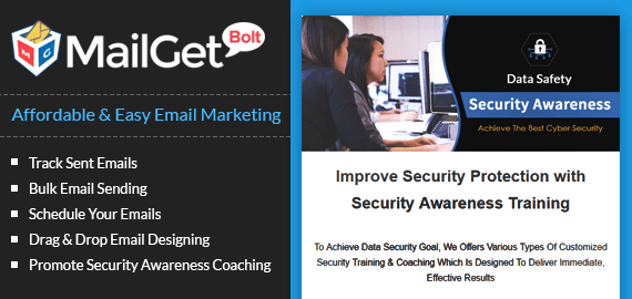 Email Marketing Service For Data Security Awareness Coachings Slider