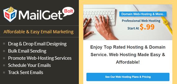 MailGet Bolt - Email Marketing For Domain & Web Hosting