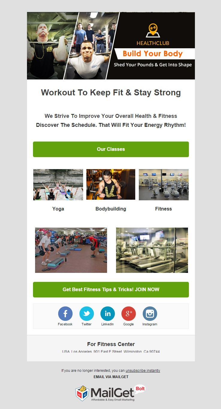 Email Marketing Service For Fitness Centers & Clubs