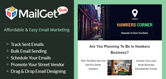 Email Marketing Service For Hawkers, Vendors & Peddlers