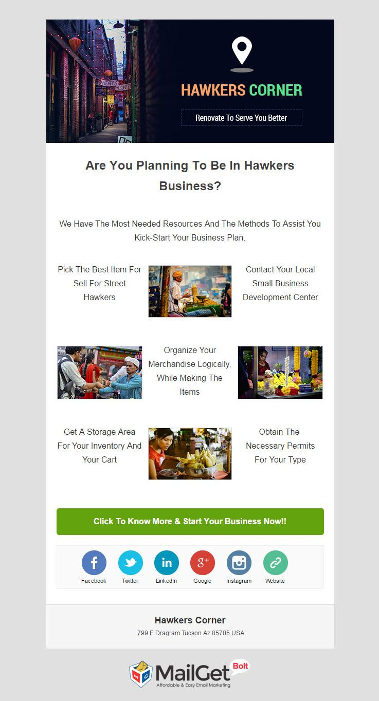 Email Marketing Service For Hawkers