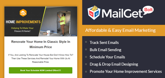 Email Marketing Service For Home Improvement