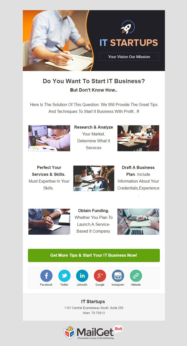 Email Marketing Service For IT Startups