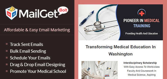 Email Marketing Service For Medical & Doctor Training School Slider