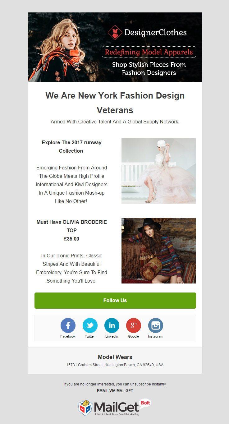 Email Marketing Service For Model Wear Shops