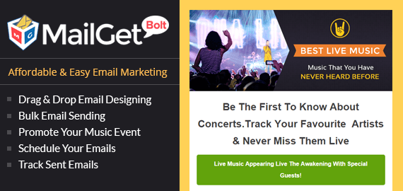Email Marketing Service For Musical & Live Concerts