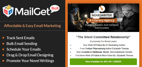 Email Marketing Service For Novelists Slider