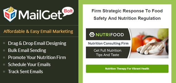 Email Marketing Service For Nutrition Firm Slider