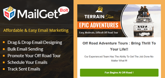 Off Road Tours Email Marketing Service For Exploration Trip Agencies