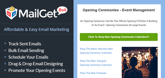 Email Marketing Service For Opening And Inaugural Ceremonies