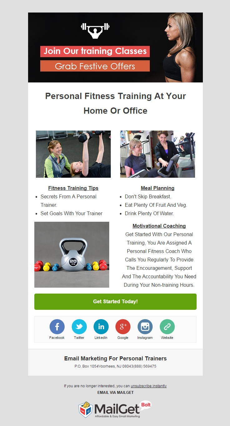 Email Marketing Service For Personal & Gym Trainers