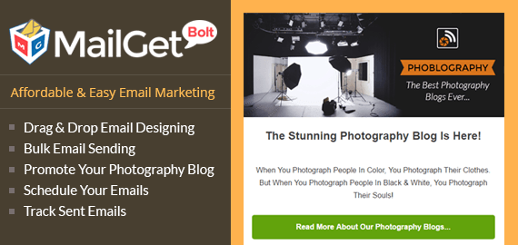 Email Marketing Service For Photography Slider