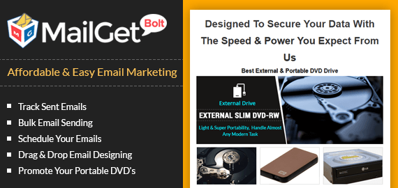 Email Marketing Service For Portable & Optical DVD Drives Slider