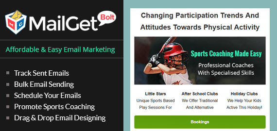 Sports Coaching Email Marketing Service For Athletic Training Centers