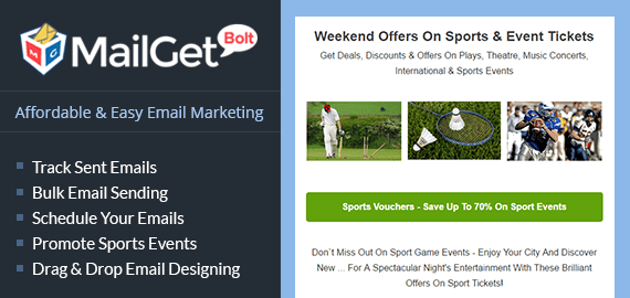 Email Marketing Service For Sports Events & Games Meet