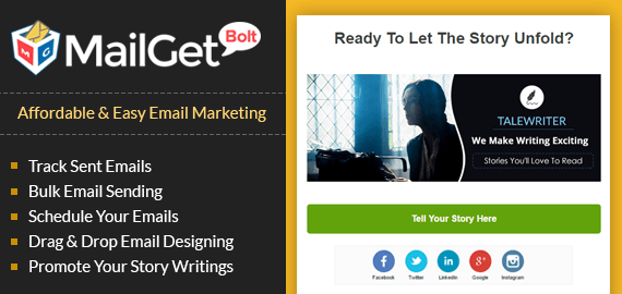 Email Marketing Service For Story Writers Slider