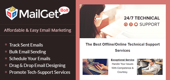 Email Marketing Service For Technical Support