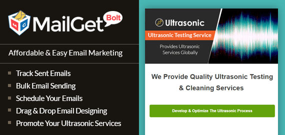 Email Marketing Service For Ultrasonic Services Slider