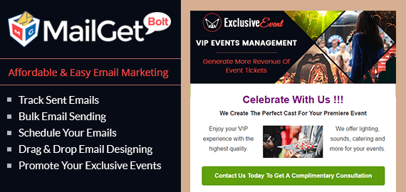Email Marketing Service For VIP & Exclusive Events