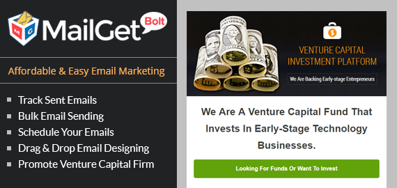 Email Marketing Service For Venture Capital Slider
