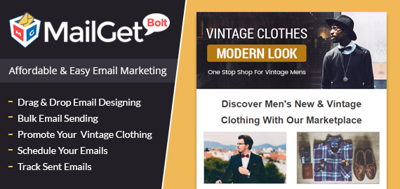 Email Marketing Service For Vintage Clothing & Accessories For Men