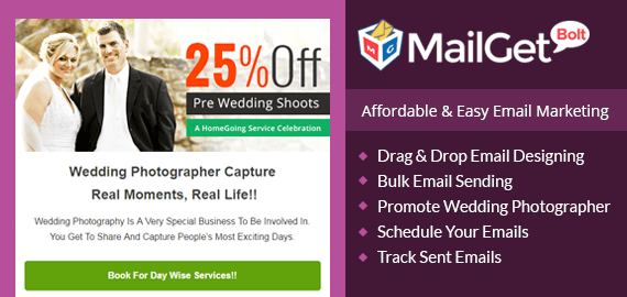 Email Marketing Service For Wedding & Portfolio Photographers Slider