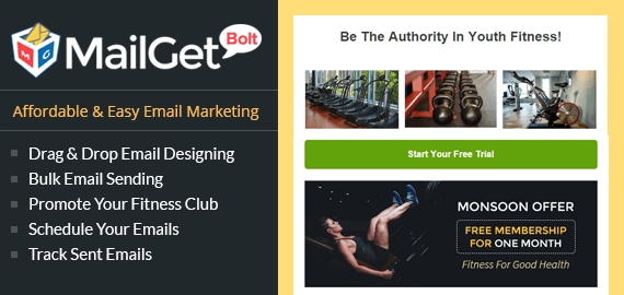 Email Marketing Service For Youngster Fitness Clubs