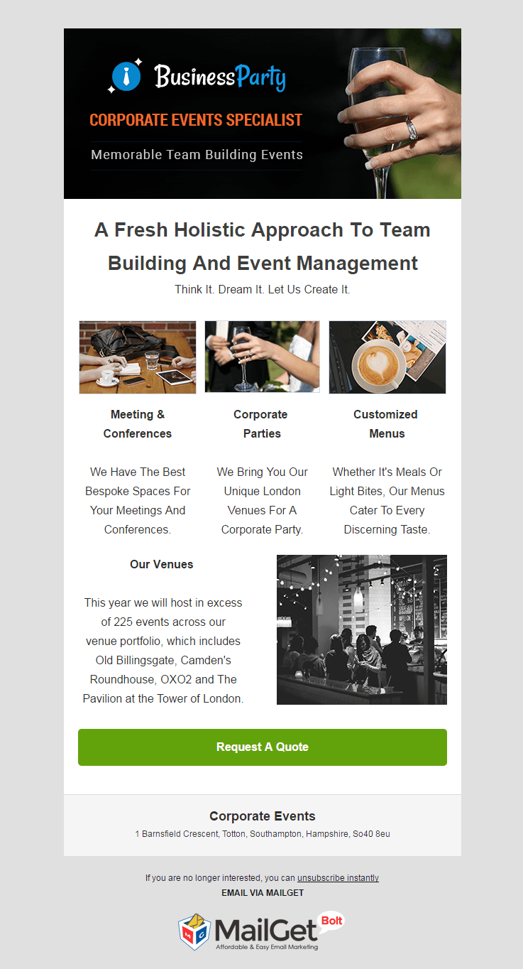 Email Marketing Software For Corporate Event Planners