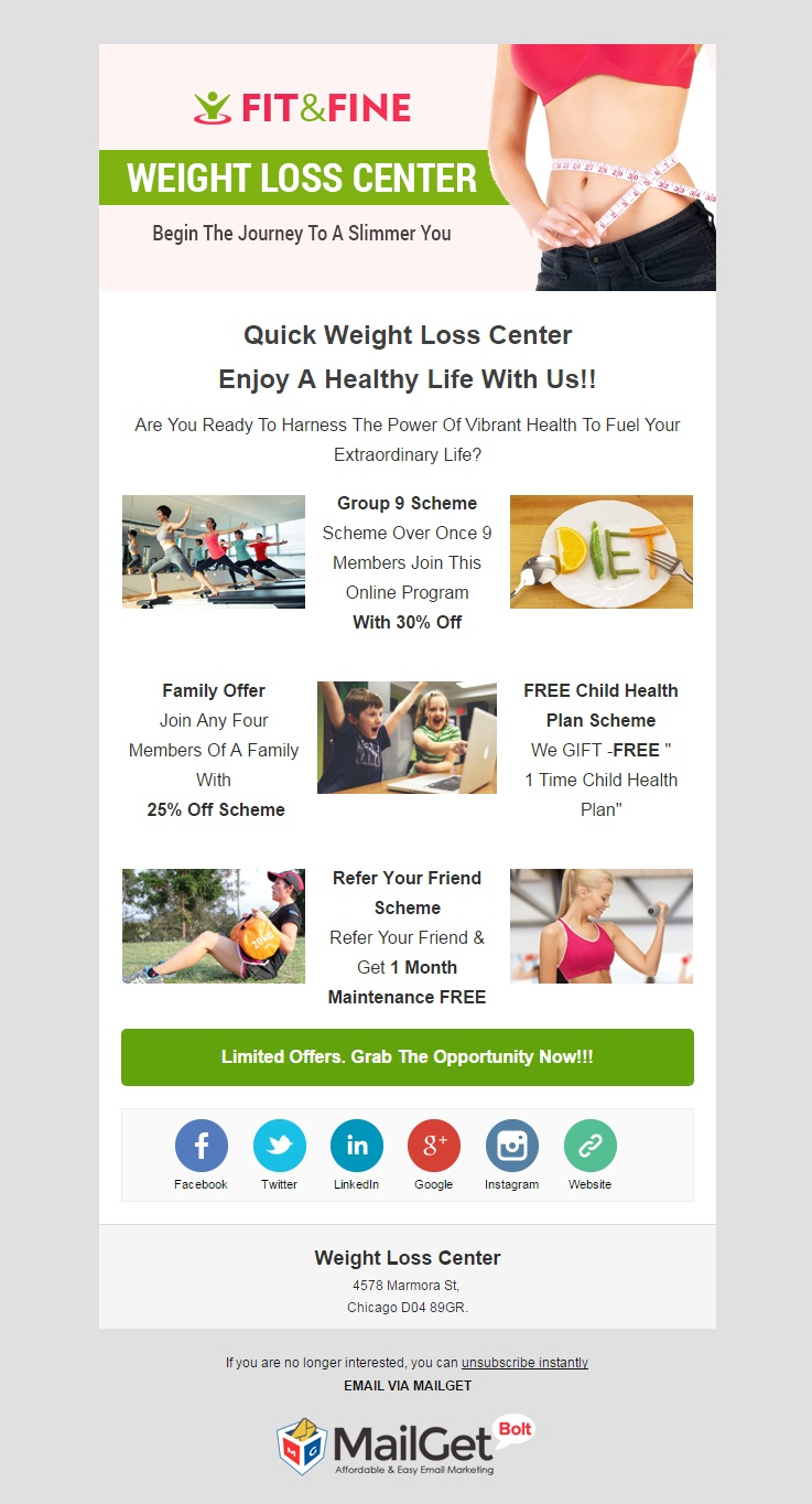 Email Marketing Software For Weight Loss & Slimming Clubs