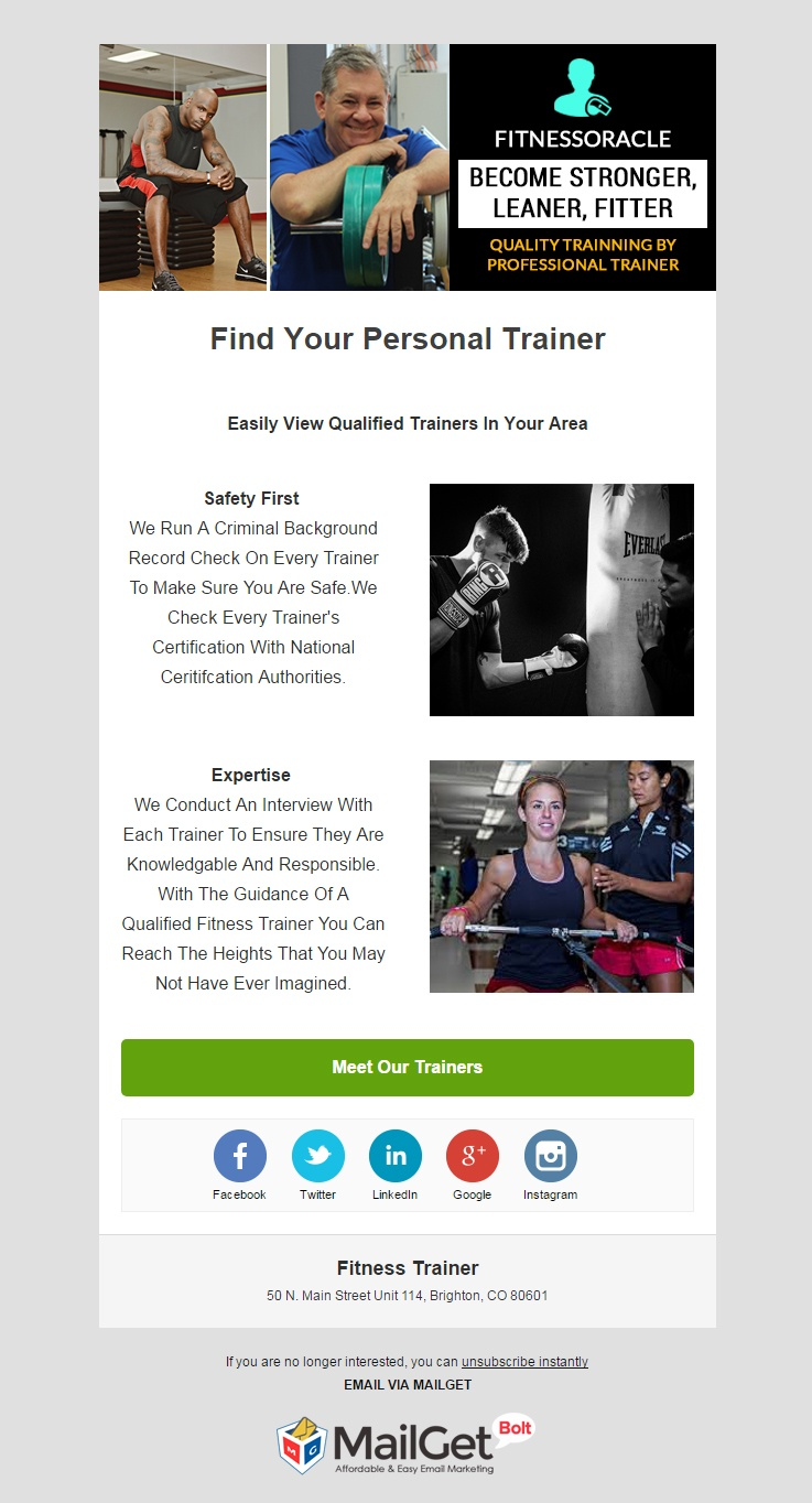 Email Marketing Tool For Fitness Instructors & Trainers
