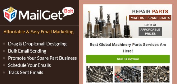 Email Marketing for Machine Spare Parts Machine Spare Slider