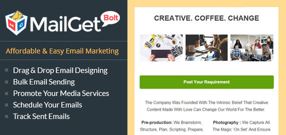 Email Marketing for Media House Slider