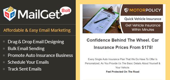 Email Marketing forVehicle Insurance Slider