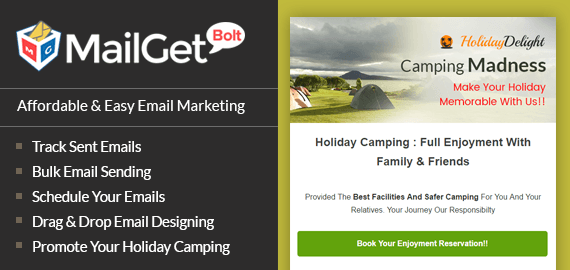 Email marketing for Holiday Campaing HolidayDelight Slider